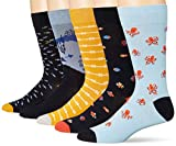 Goodthreads 5-Pack Patterned Socks Casual, Under the Sea Pack, Talla única, 5