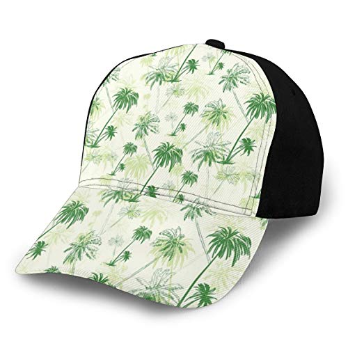 Unisex Hats Baseball Caps Hats Dad Hat Sketch Palm Tree North Pacific Ocean Foliage Abstract Monochrome Design