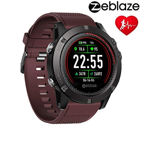 Zeblaze Vibe 3 ECG Smart Watch, IP67 Waterproof 4.0 Bluetooth Sport Fitness Tracker, 1.22' Color Touch Screen, Activity Tracking Multi-sensors Mobile Alerts Pedometer Sleep Monitor Smartwatch(Red)