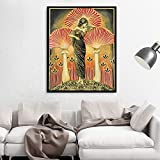 Puzzle 1000 piezas Imagen de pintura de setas psicodélicas del arte del mito pagano de la diosa soma puzzle 1000 piezas Juego de habilidad para toda la familia, colorido juego50x75cm(20x30inch)