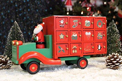 Holz Santa 's LKW Adventskalender