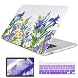 Dongke MacBook Pro 16 inch Case Model A2141 (2019 2020 Released), Plastic Hard Shell Case Cover Only Compatible with MacBook Pro 16 inch with Retina Display & Touch Bar Fits Touch ID, Meadow & Floral