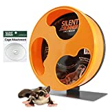 Exotic Nutrition Silent Runner 12' Regular | Wheel + Cage Attachment | Sugar Gliders, Hamsters, Rats