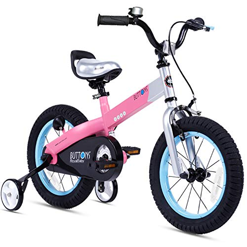 RoyalBaby Matte Buttons 12u0022 Bike - Pink