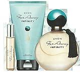 Far Away Infinity EDP, spray para bolso y loción corporal - por Avon