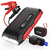 UTRAI Jstar3 1600A 20000mAh Portable Lithium Car Battery Jump Starter (Up to 7L Gas, 6L Diesel Engine), Ultra Safe 12V Auto Battery Booster with LCD Screen, 3 Mode LED Flashlight and Dual QC USB Ports