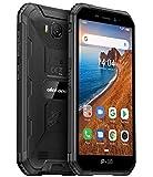 Ulefone Armor X6 Télephone Portable Incassable Pas Cher, IP68 Résistant Smartphone Android 9.0, Double SIM, 2 Go + 16 Go, 5MP+8MP, Batterie 4000 mAh, Écran 5 Pouces, Visage Déverrouillé GPS Noir