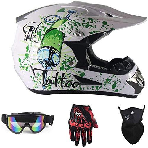 ZHXH Cross Country Mountain Vollgesichts-Motobiker-Helm Klassisches...