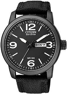 Citizen Mens Eco-Drive Black Stainless Steel/ Nylon Strap Watch BM8475-34E