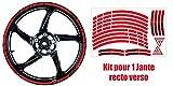 Kit Liserets de Jante rétro réfléchissants, Ducati Corse (Rouge)