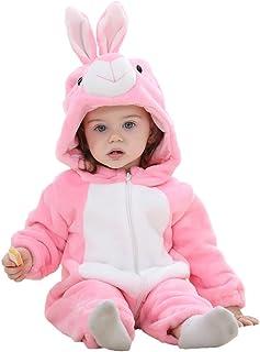 エルフ ベビー(Fairy Baby)うさぎ着ぐるみ ベビー服秋冬 フード付きロンパース ジャンプスーツ 防寒着