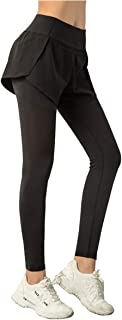 Cecobora Yoga Pants with Pockets High Waist Tummy Control Workout Double Layer Running Gym Pants Leggings for Women