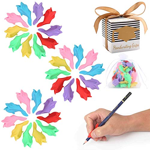 Premium Training Pencil Grips for Kids Handwriting for Preschool, Ritchoi Upgrade Right or Left Hand Ergonomic Pencil Grip for Kids and Training Pencil Grip for Adults (30 Pcs)
