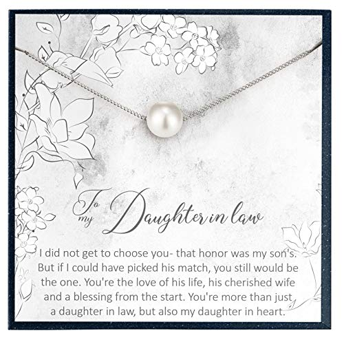 Grace of Pearl to My Daughter in Law Gifts for My Daughter in Law Necklace Gifts from Mother in Law to Daughter in Law Gifts