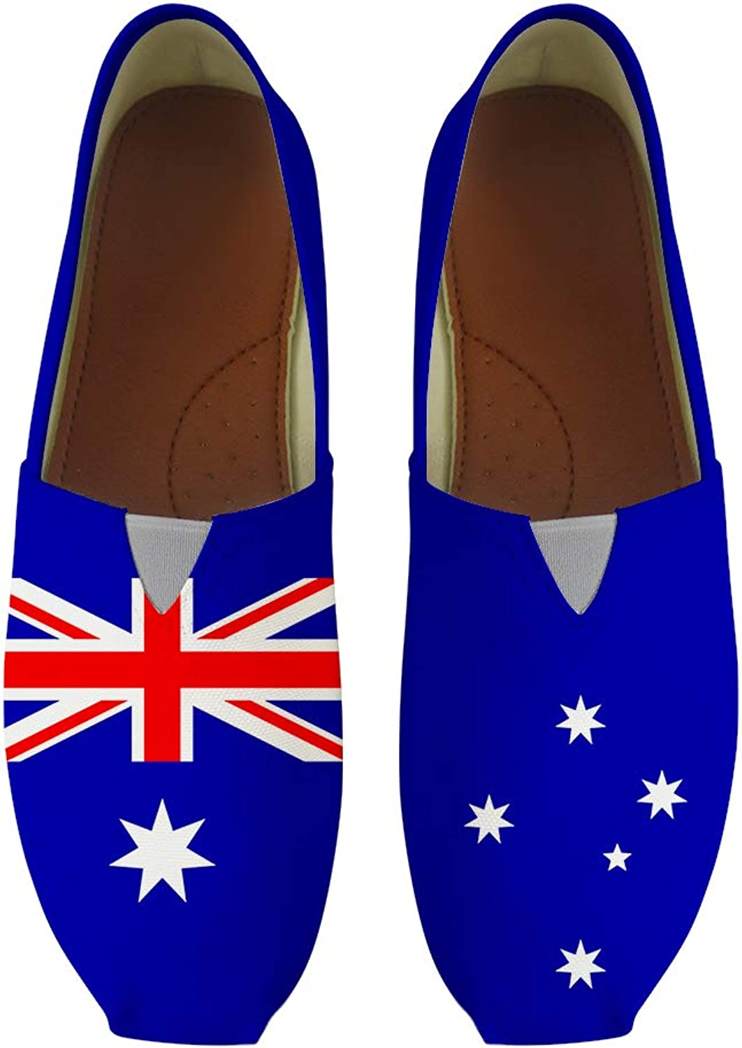 Owaheson Classic Canvas SlipOn Lightweight Driving shoes Soft Penny Loafers Men Women Australia Flag