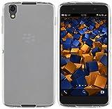 mumbi Hülle kompatibel mit BlackBerry DTEK50 Handy Hülle Handyhülle, transparent weiss, transp. weiss