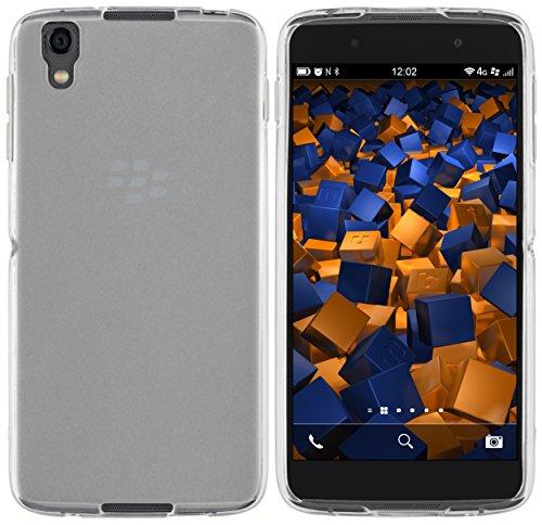 mumbi Hülle kompatibel mit BlackBerry DTEK50 Handy Hülle Handyhülle, transparent weiss