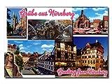 City Souvenir Shop Foto-Magnet Grüsse aus Nürnberg