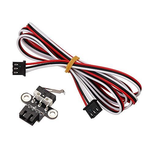 Drucker-Zubehör, horizontaler Typ, mechanischer Endstoppschalter mit 1 m Kabel für 3D-Drucker RepRap Ramps1.4, 5 Stück