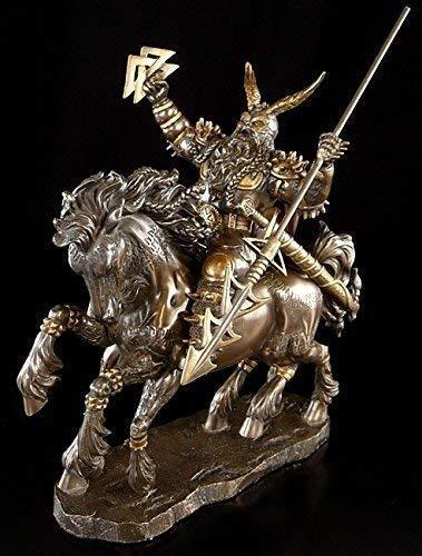 ODIN Figura De Caballo ocho patas Sleipnir - PADRE DE LOS DIOSES VIKINGO Estatua