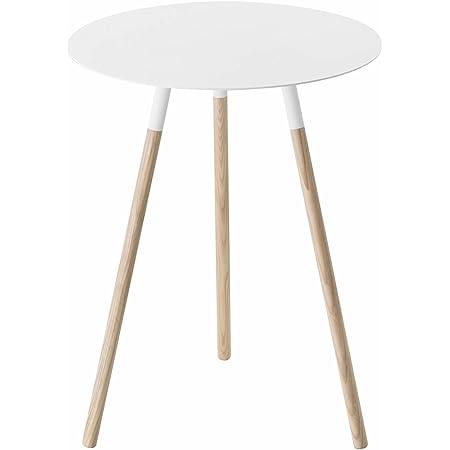 山崎実業 サイドテーブル ホワイト 約W40×D40×H50cm プレーン 2341