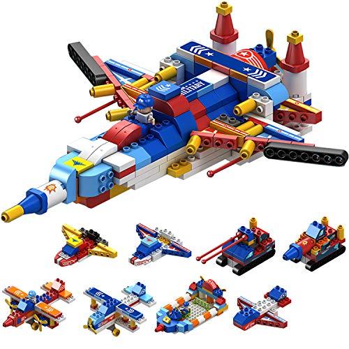 WYSWYG 飛行機 おもちゃ ブロック 積み木 8in1セット 航空自衛隊 戦闘機 戦車 知育玩具 男の子 女の子(186PCS)