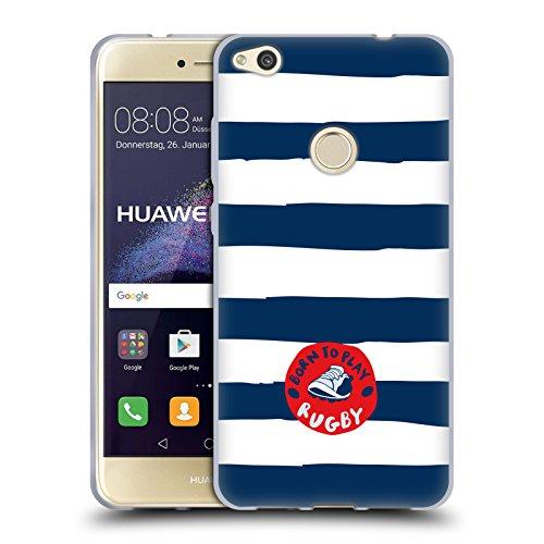 Head Case Designs Official England Rugby Union Nacido para Jugar a Rayas Niños Carcasa de Gel de Silicona Compatible con Huawei P8 Lite (2017)