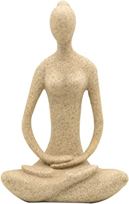 Amazon.com: Bellaa 23134 Woman Statue Yoga Pose Meditation ...