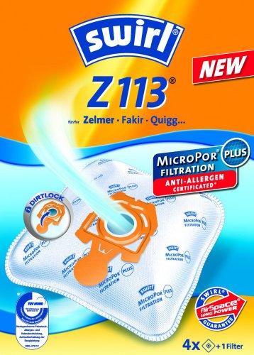 Swirl Staubsaugerbeutel Z113 / Z 113 MicroPor Plus AirSpace für Zelmer, Hanseatic Staubsauger
