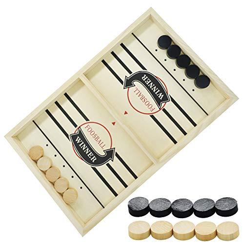 Tischspiele für Familie,Aktualisiert Brettspiel Hockey, Katapult Brettspiel,Bouncing Brettspiel,Fast Sling Puck Game,Tisch Hockey Brettspiel,Katapult Schach,Bouncing Chess Hockey Game,Puck Spiel Holz