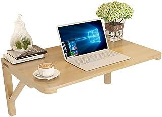 Table suspendue en bois massif Table pliante contre le mur Étude Chambre Buanderie Balcon Cuisine (Color : Wood color, Siz...