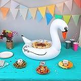 Flotador Cisne para centro de mesa o servir en la piscina