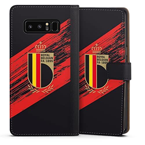 DeinDesign Klapphülle kompatibel mit Samsung Galaxy Note 8 Duos Handyhülle aus Leder schwarz Flip Hülle Trikot RBFA Offizielles Lizenzprodukt
