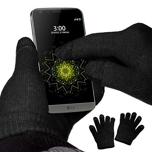 yayago Touchscreen Handschuhe Schwarz Universalgröße (ca. S – M) – für LG G5 / LG G5 SE / G5 Lite