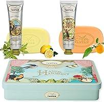 Un Air d'Antan® Coffret Beauté 2 Cremes Mains au Beurre de Karité, Aloe Vera 2x25ml + 2 Savons Doux aux Huiles Bio...
