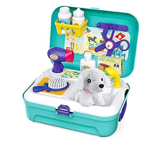 OMMO LEBEINDR Pet Care Spielset Hundepflege Arzt Kit Mit Rucksack Educational Pretend Play-Spielzeug Für Kinder Kinder (1 Set)