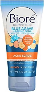 Bioré Baking Soda Acne Face Scrub, 4.5 Ounce, with 2% Salicylic Acid, Helps Prevent Breakouts, Oil Free, for Combination S...