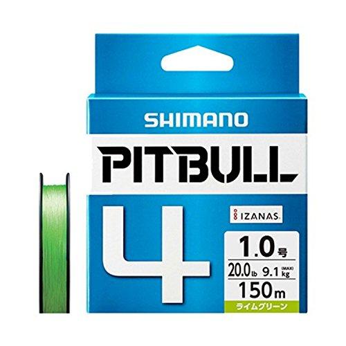 シマノ(SHIMANO) PEライン ピットブル 4本編み 150m 2.0号 ライムグリーン 38.7lb PL-M54R 釣り糸 ライン 2号