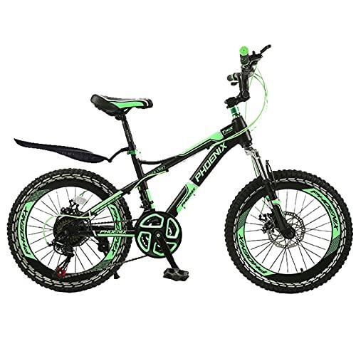 FUFU Bicicleta de montaña para niños de 22 Pulgadas, 21 velocidades Ajustables, Adecuada para niños y niñas de 10 a 16 años