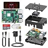 TICTID Raspberry Pi 4 Modelo B 8GB Kit, Versión Actualizada de Raspberry pi 3 con Tarjeta MicroSD de 128GB, Adaptador tipoC 5V 3A con Interruptor, Ventilador, Estuche y Lector de Tarjetas, etc