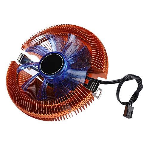 Ventilador de enfriamiento de computadora de 12VDC, ventilador de enfriamiento de computadora de disipación de calor rápido de 2000RPM con luces LED, para 1156/1155/1150/775 / FM1 / FM2 / AM3 + / AM3