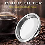 HAPYLY 58mm Metal Blind Filter for Espresso Coffee Machine Maker Back Flush Insert Basket