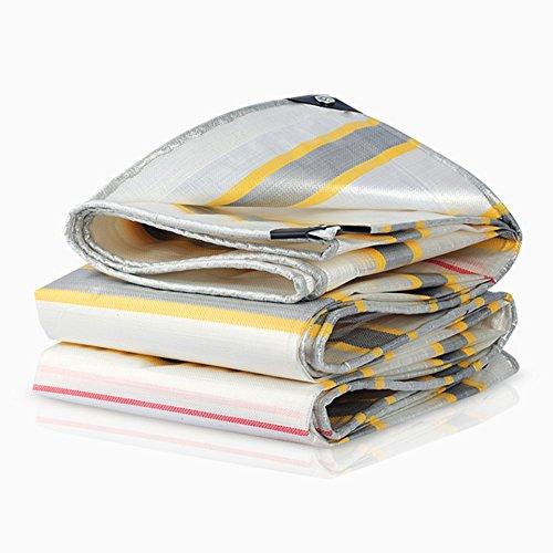 Yxsd Tissu imperméable épais de Parasol de Camion de Construction de bâche imperméable imperméable à l'eau épaisse (Color : White, Size : 4x8m)