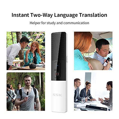 SSK Portable Foreign Language Translators Device with Connecting Smartphone by Bluetooth Support 86 Languages Two-Way Instant Translation Voice Language Translator for Travelling Learning Business Photo #6