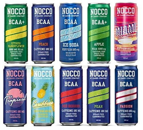 NOCCO Energy Drink - 24 Dosen - 10 Sorten