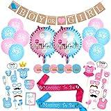 YuChiSX Gender Reveal Party Decorazione per Feste di Compleanno per Baby Shower ,Forniture Baby Shower Gravidanza Annuncio Kit Ragazzo o Ragazza Favori per Baby Shower