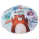Tiamu Alfombra infantil con diseño de oso de dibujos animados, ideal para guardería, regalo perfecto para el dormitorio de los niños, sala de clases