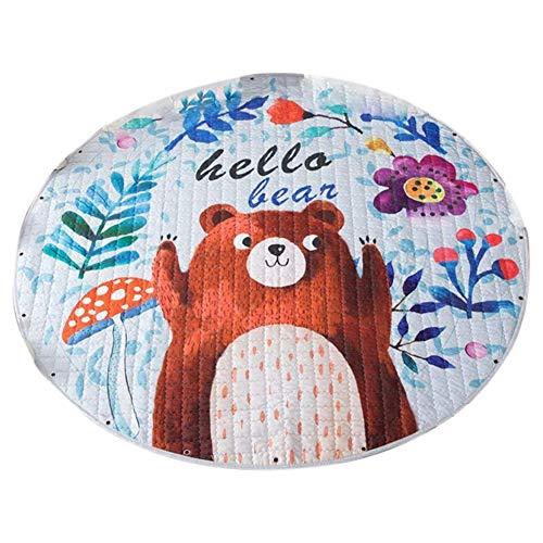 Fltaheroo Alfombra infantil con diseño de oso de dibujos animados, ideal para guardería, regalo perfecto para el dormitorio de los niños, sala de clases
