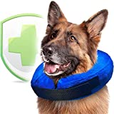 Soft Dog Cone Collar for Large Dogs for After Surgery - Inflatable Dog Neck Donut Collar - Elizabethan Collar for Dogs Recovery - Dog Cones Alternative - Protective Pet Cones for Dogs