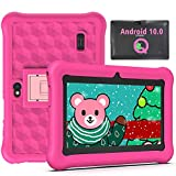 Tablet per Bambini 2 a 12 anni 7 Pollici Android 10.0, Tablet Bambini 2GB di RAM 32GB WiFi Kid-Proof Custodia, App per il Controllo Parentale - Rosa